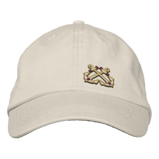 Crossed Anchors Nautical Star Embroidery Embroidered Hats