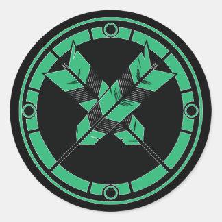 Crossed Arrows Classic Round Sticker