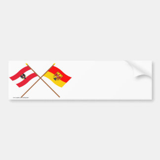 Crossed Austria and Burgenland flags Bumper Sticker