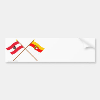 Crossed Austria and Kärnten flags Bumper Sticker