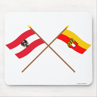 Crossed Austria and Kärnten flags Mouse Mat