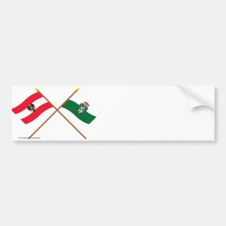 Crossed Austria and Steiermark flags Bumper Sticker