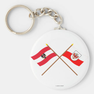 Crossed Austria and Tirol flags Key Ring