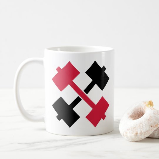 Crossed Barbells Coffee Mug