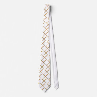 Crossed Baseball Bats Tie