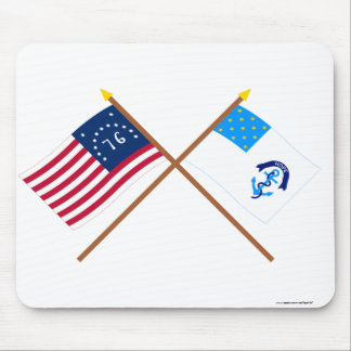 Crossed Bennington and 2nd Rhode Island Regiment F Mouse Pads
