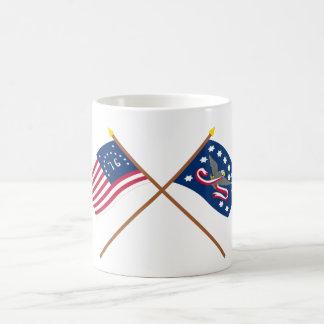 Crossed Bennington and Whiskey Rebellion Flags Coffee Mug