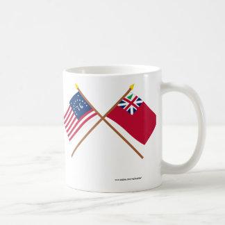 Crossed Bennington Flag and  Pine Tree Red Ensign Coffee Mug