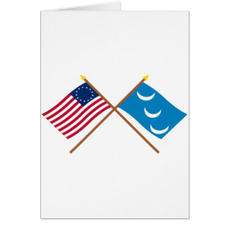 Crossed Betsy Ross and South Carolina Militia Flag Card