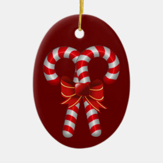 Crossed Candy Canes Ornament