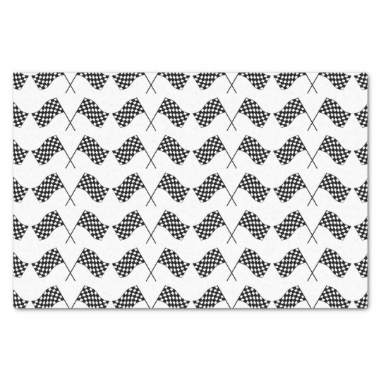 Crossed Chequered Flags Tissue Paper