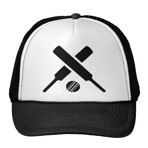 Crossed Cricket bats Hats
