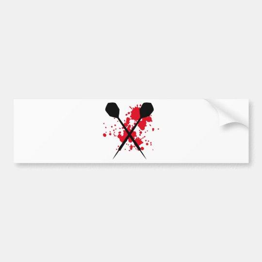 crossed darts icon bumper sticker