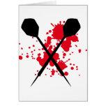crossed darts icon greeting card