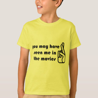 Crossed Fingers Seen in Movies Kids T-shirt