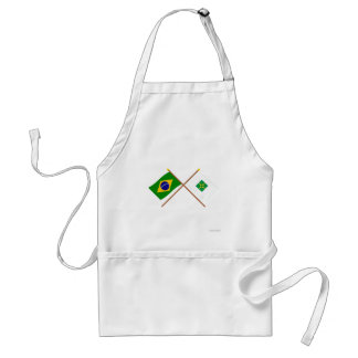 Crossed Flags of Brazil and Distrito Federal Aprons