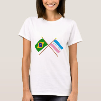 Crossed Flags of Brazil and Espírito Santo T-Shirt