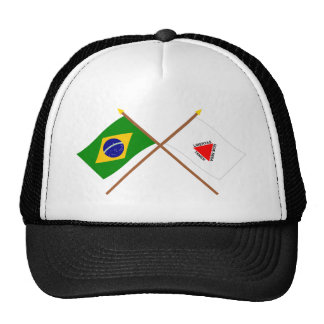 Crossed Flags of Brazil and Minas Gerais Trucker Hat