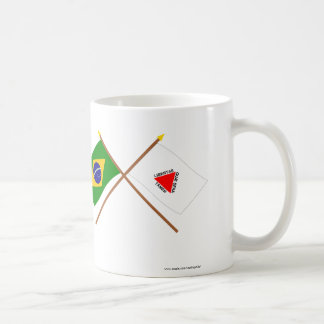 Crossed Flags of Brazil and Minas Gerais Coffee Mug