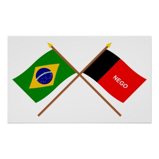 Crossed Flags of Brazil and Paraíba Posters