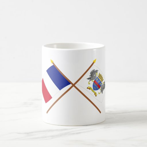 Crossed flags of France and Saint-Barthelemy Mugs