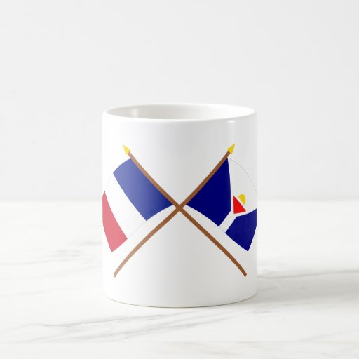 Crossed flags of France and Saint-Martin Coffee Mug