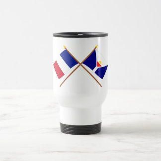 Crossed flags of France and Saint-Martin Coffee Mugs