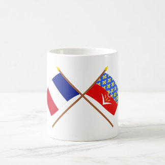 Crossed flags of France and Seine-Saint-Denis Classic White Coffee Mug