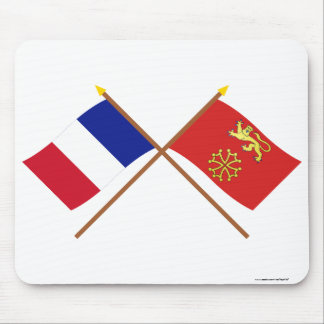 Crossed flags of France and Tarn-et-Garonne Mouse Mat