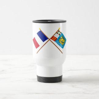 Crossed flags of France & Saint-Pierre et Miquelon Coffee Mug