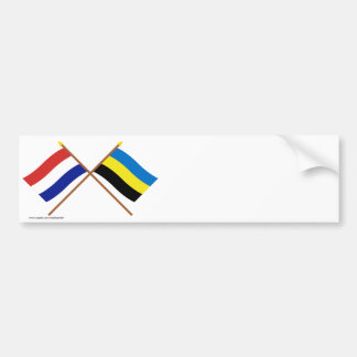 Crossed flags of Holland and Gelderland Bumper Sticker