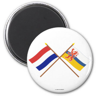 Crossed flags of Holland and Limburg Magnet