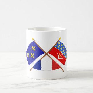 Crossed flags of Île-de-France & Seine-Saint-Denis Classic White Coffee Mug