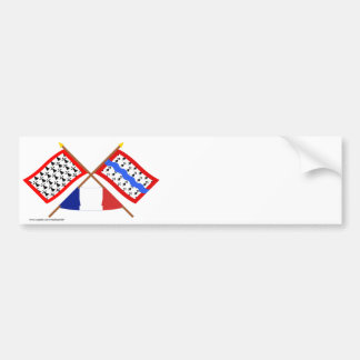 Crossed flags of Limousin and Haute-Vienne Bumper Sticker