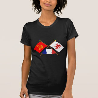 Crossed flags of Midi-Pyrénées and Gers T Shirts