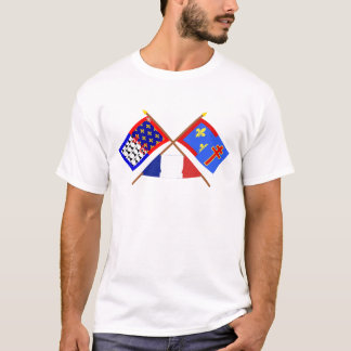 Crossed flags of Pays-de-la-Loire & Maine-et-Loire T-Shirt