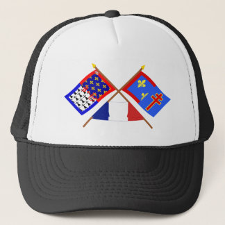 Crossed flags of Pays-de-la-Loire & Maine-et-Loire Trucker Hat