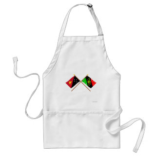 Crossed flags of PNG & Southern Highlands Province Aprons
