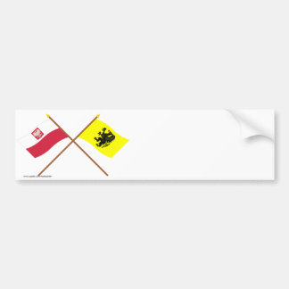 Crossed flags of Poland and Pomorskie Bumper Sticker