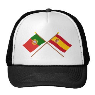 Crossed Flags of Portugal and Spain Cap