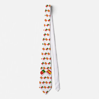 Crossed Flags of Portugal and Spain Tie