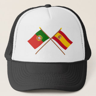 Crossed Flags of Portugal and Spain Trucker Hat