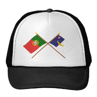 Crossed Flags of Portugal and the Azores Cap