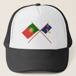 Crossed Flags of Portugal and the Azores Trucker Hat