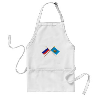 Crossed flags of Russia and Arkhangelsk Oblast Standard Apron