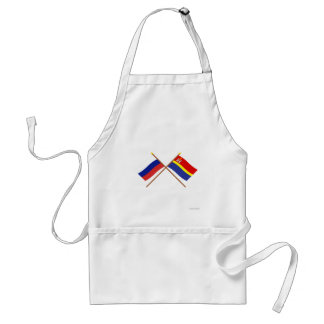 Crossed flags of Russia and Kaliningrad Oblast Standard Apron