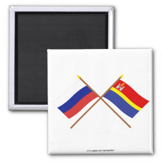 Crossed flags of Russia and Kaliningrad Oblast Magnet