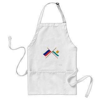 Crossed flags of Russia and Kirov Oblast Standard Apron