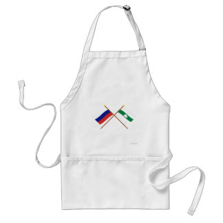 Crossed flags of Russia and Kurgan Oblast Apron