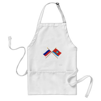 Crossed flags of Russia and Oryol Oblast Apron